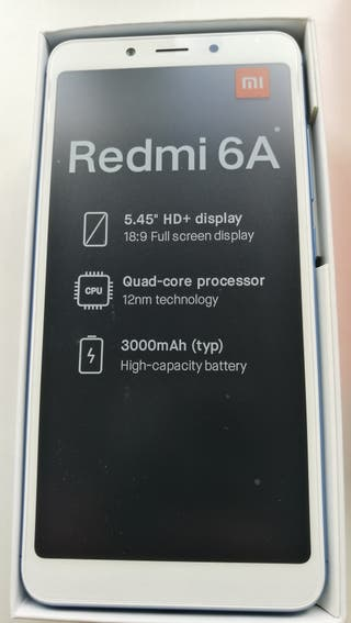 Xiaomi redmi note 6A azul, nuevo