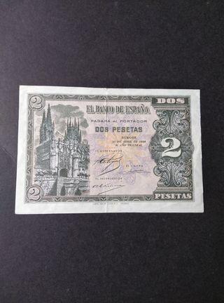 2 pesetas de 1938.