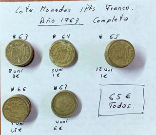 Lote monedas 1 Pts Franco 1963