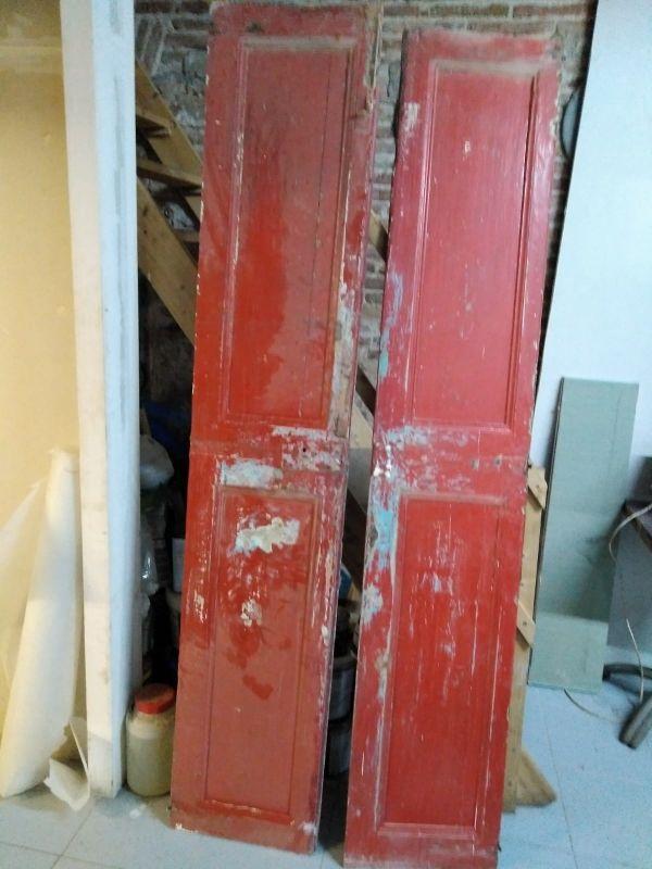 Puerta de madera antigua de segunda mano por 99 en - Puertas madera barcelona ...