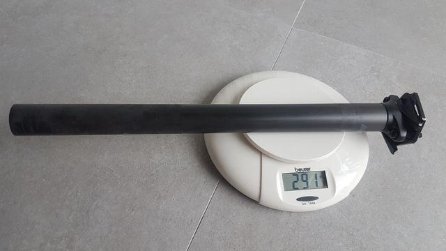 Tija bicicleta 400mm largo y 30.9mm diámetro.