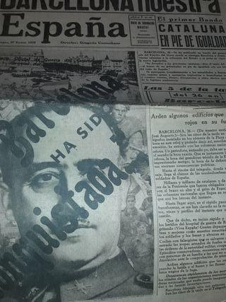 periódico guerra civil toma de Barcelona