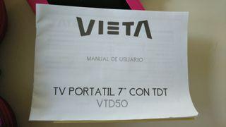 "TV portátil 7""VIETA con TDT VTD50"