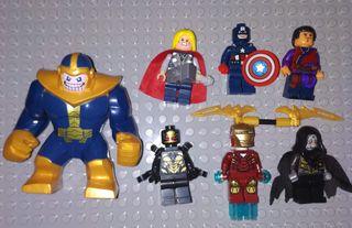 Figuras tipo lego Superheroes Pack de 7 figuras