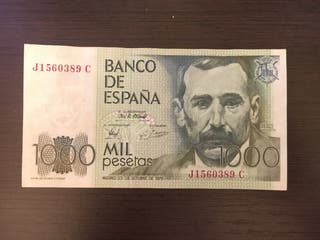 Billete 1000 pesetas de 1979