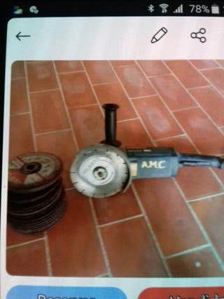 radial bosch y discos esmerilar regalo hierro.