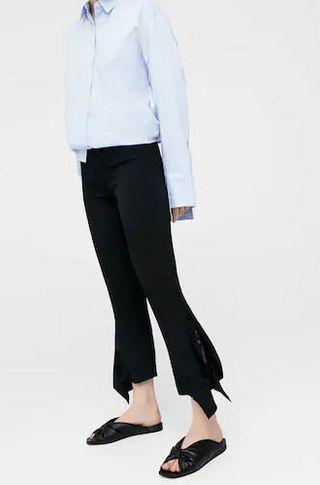 Pantalón negro con encaje