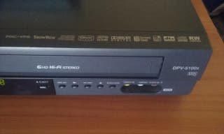 Reproductor Video VHS DVD Combo IMPECABLE