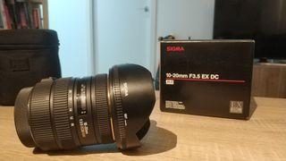objetivo sigma 10-20 mm F3,5 EX DC HSM para Canon