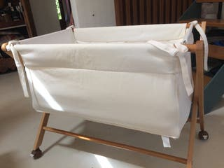 Minicuna o moises plegable de tela con colchon