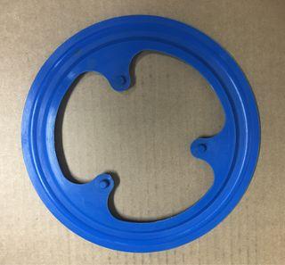 Protector plato BMX azul