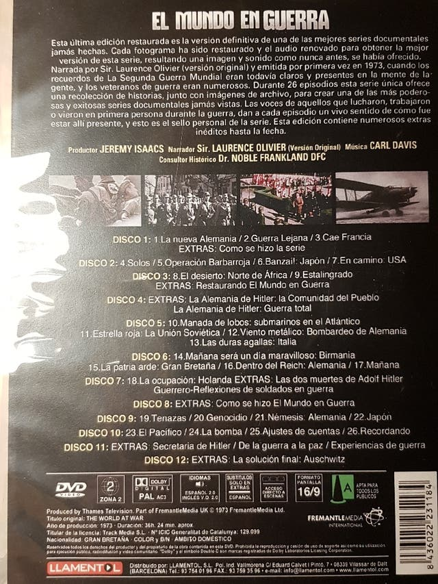 EL MUNDO EN GUERRA 12 DVD's 36H