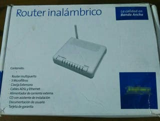 Se vende router inalámbrico nuevo sin estrenar