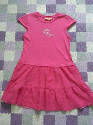 Vestido niña 7 años (124 cm) de color fucsia