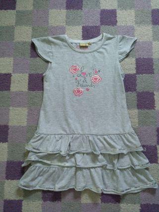 Vestido niña algodón Talla 7 (124 cm)