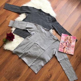 Set dos camisetas / jerseys Uniqlo talla S gris