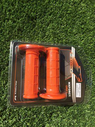 Puños moto campo naranja KTM