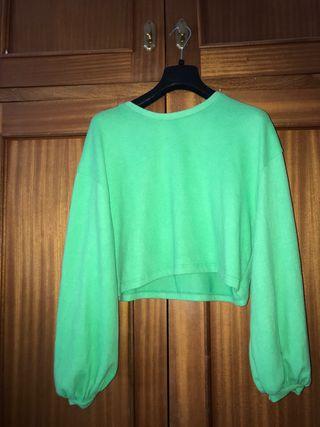 Suéter Verde fluorescente stradivarus