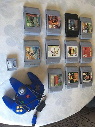 Mando y juegos Nintendo 64