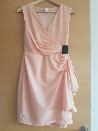 vestido rosa palo marca Vila