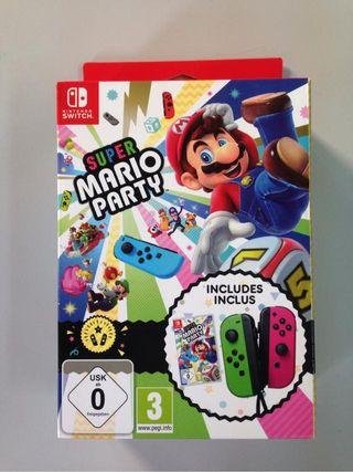 Pack juego Super Mario Party + mandos Joy Con