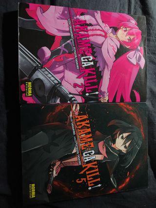 Akame ga kill volumen 2 y 5