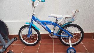 bicicleta niña frozen