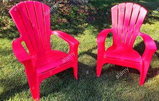 Sillas de jardin plastico rojo
