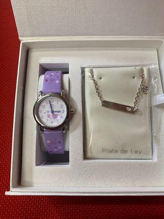 c0aec8012d51 Reloj de plata niña de segunda mano en Madrid en WALLAPOP