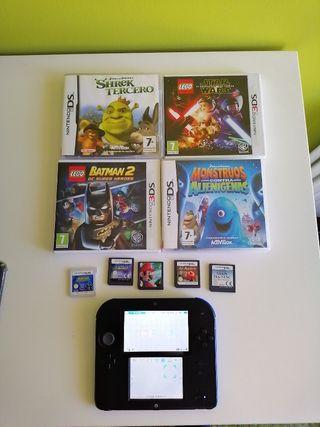 Nintendo 2DS + Pack de Juegos