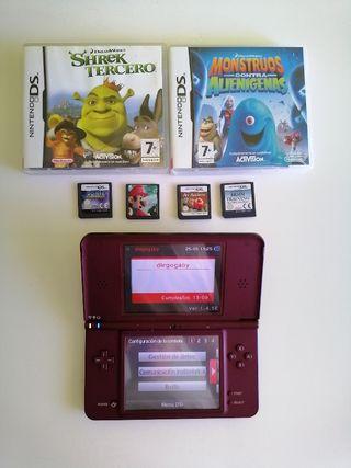 Nintendo DS XL + Juegos