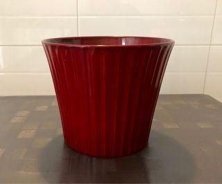 Maceta cerámica roja