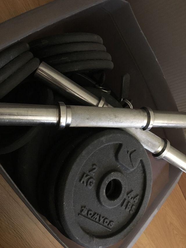 Lote pesas para 2 mancuernas (36 kg)