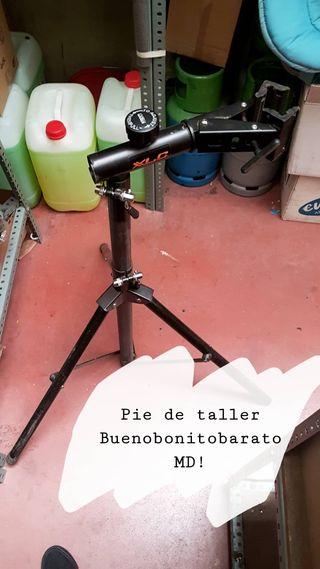 Pie de taller para bici