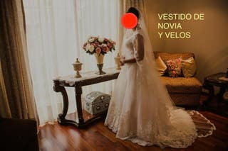 12caf87438 Vestido de Novia Corte princesa talla 8 USA