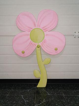 perchero en forma de flor