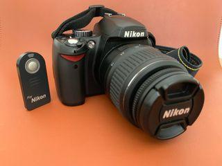 Nikon D60 + Nikkor 18-55 + Batería+ Remoto + Funda