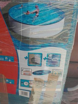 Estructura acero piscina + escalera + complementos