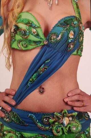 traje danza oriental o danza del vientre