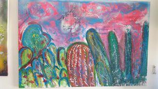 cuadro original cactus