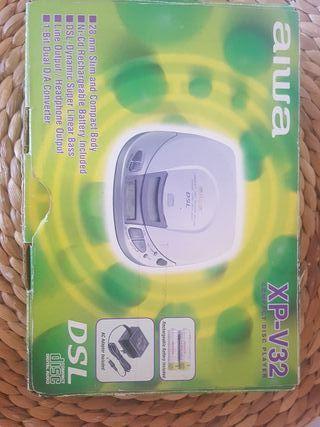 Discman. Compact disc player.