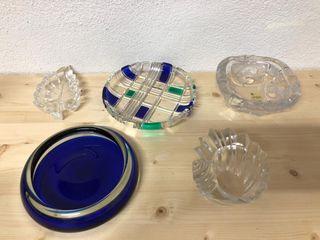 Lote ceniceros de cristal
