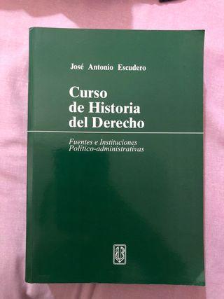 Libro Curso de Historia del Derecho, José Antonio