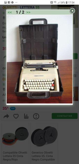 máquina escribir olivetti letera 35