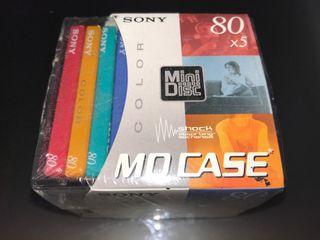 Discos MiniDisc marca Sony sin estrenar