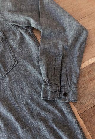 chemise homme gris chiné 100% coton T. XL