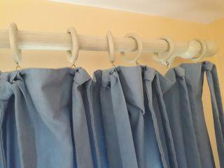 Vendo cortinas azules