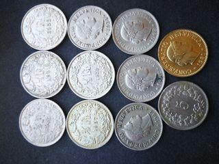 monedas céntimos suizos. 5 rapen y medio franco. V