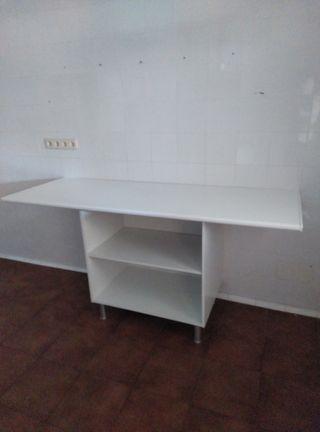 mesa / armario de apoyo blanco