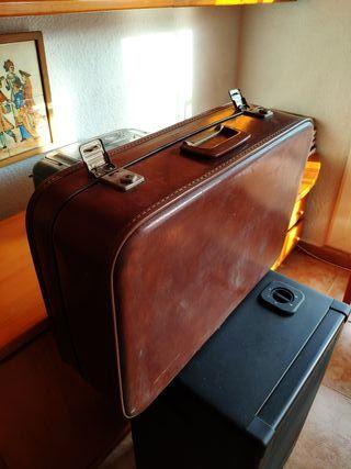 feb518d75 Maletín de cuero vintage de segunda mano en WALLAPOP